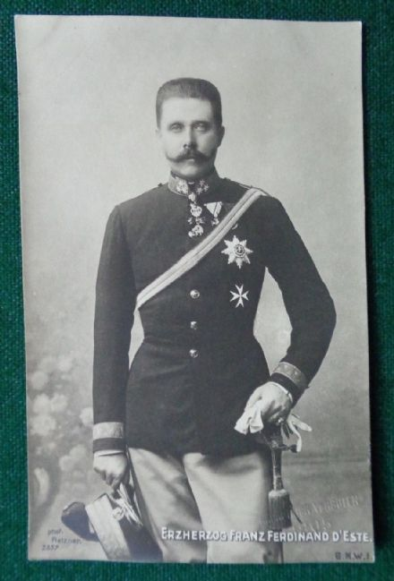 Antique Photographic Postcard Archduke Franz Ferdinand Austria World War I